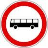 Autóbusszal behajtani tilos