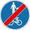 Gyalog- és kerékpárút vége