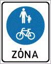 Gyalogos és kerékpáros övezet (zóna)