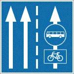 Kerékpárosok által is használható autóbusz forgalmi sáv