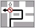 Kerülő útirányt jelző tábla