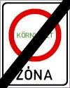 Környezetvédelmi övezet (zóna) vége