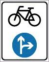 Kötelező haladási irány kerékpárokra
