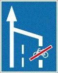Nyitott kerékpársáv vége