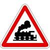 Sorompó nélküli vasúti átjáró