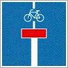 Zsákutca kerékpáros továbbhaladási lehetőséggel