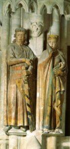 Uta és Ekkehard szobra a naumburgi dómból